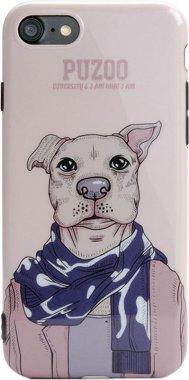 Чехол-накладка PUZOO TPU Glossy Shiny Powder Art dog iPhone 7/8 Brown Aboo