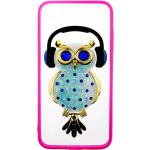 Чехол-накладка TOTO TPU Stones Case IPhone 7 Plus /8 Plus Owl in Headphones Blue