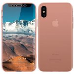 Чехол-накладка TOTO 360 Fully-covered TPU case iPhone X Rose Gold