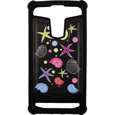 "Чехол-накладка TOTO Universal TPU case with image 5,5"" Sea Stars Black"