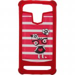 "Чехол-накладка TOTO Universal TPU case with image 4,5"" Kitty Red"