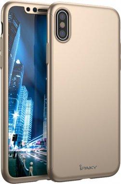 Чехол-накладка Ipaky 360 PC Full Protection case iPhone X Gold