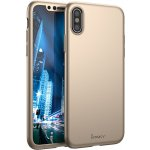 Чехол-накладка Ipaky 360 PC Full Protection case iPhone X Gold