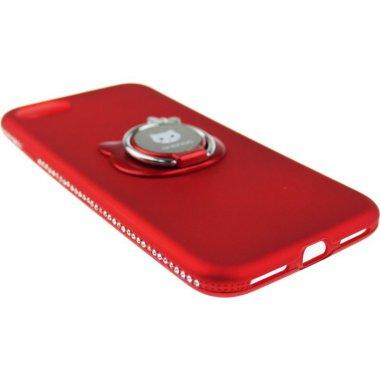 Чехол-накладка SHENGO Soft-touch holder TPU Case iPhone 8 Red