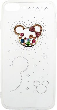Чехол-накладка TOTO TPU case with stones iPhone 7 Plus/8 Plus Mouse Transparent