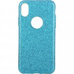 Чехол-накладка TOTO 2 in1 tpu + glitter paper case iPhone X Blue