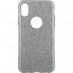Чехол-накладка TOTO 2 in1 tpu + glitter paper case iPhone X Silver