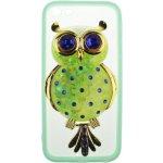 Чехол-накладка TOTO TPU Case Decorative Stones IPhone 5/5S/SE Owl Green