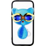 Чехол-накладка TOTO TPU Case Decorative Stones IPhone 5/5S/SE Cat Blue