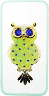 Чехол-накладка TOTO TPU Case Decorative Stones IPhone 7 Plus/8 Plus Owl Green