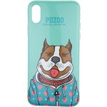 Чехол-накладка PUZOO TPU Glossy Shiny Powder Art dog iPhone X Green Baby