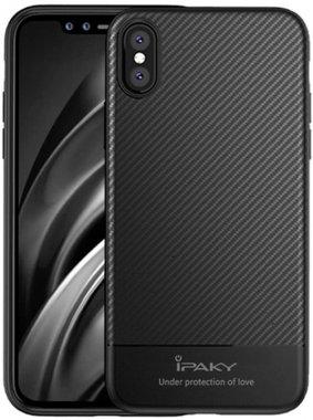 Чехол-накладка Ipaky TPU Case with Carbon Fiber Pattern iPhone Xs Black