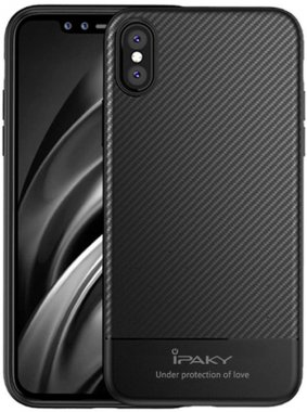 Чехол-накладка Ipaky TPU Case with Carbon Fiber Pattern iPhone Xs Max Black