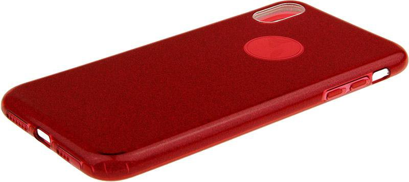 Чехол-накладка TOTO TPU Case Rose series 3 IN 1 iPhone Xs Max Red