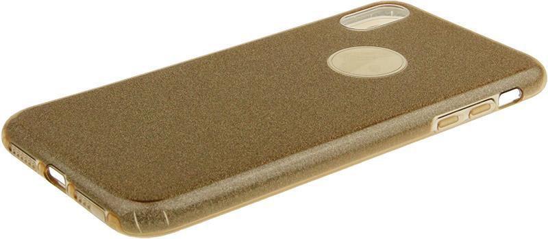Чехол-накладка TOTO TPU Case Rose series 3 IN 1 iPhone Xs Max Gold