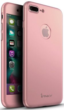 Чехол-накладка Ipaky 360 PC Whole round case 3 in 1 iPhone 7 Plus Rose Gold