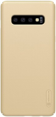 Чехол-накладка Nillkin Super Frosted Shield Samsung Galaxy S10 (SM-G973) Gold