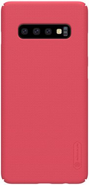 Чехол-накладка Nillkin Super Frosted Shield Samsung Galaxy S10 Plus (SM-G975) Red