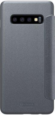 Чехол-книжка Nillkin Sparkle Leather Case Samsung Galaxy S10 (SM-G973) Black