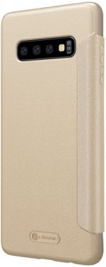 Чехол-книжка Nillkin Sparkle Leather Case Samsung Galaxy S10 (SM-G973) Gold