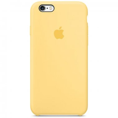 """Чехол Apple Silicone Case для iPhone 6 Plus/6s Plus """"24"""" Yellow"""