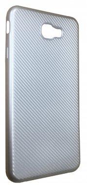 Силикон (carbon) Samsung J7 2017 / J730 Silver