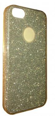 Silicone 3in1 Блёстки  Samsung S7 Edge Gold