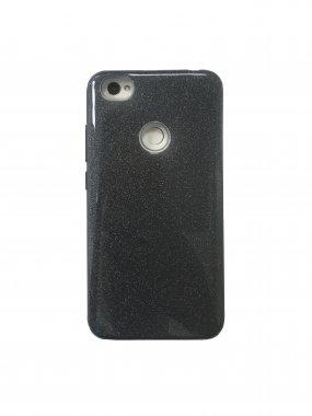 Silicone 3in1 Блёстки  Samsung S7 Edge Black