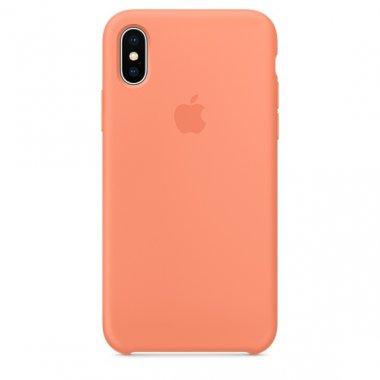 Чехол Apple Original Silicone Case для iPhone 7 Peach Red