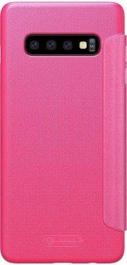 Чехол-книжка Nillkin Sparkle Leather Case Samsung Galaxy S10 Plus (SM-G975) Red