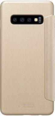 Чехол-книжка Nillkin Sparkle Leather Case Samsung Galaxy S10 Plus (SM-G975) Gold