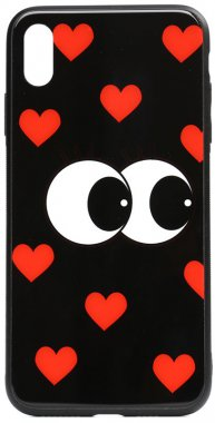 apple cartoon case chehol eatit glass iphone just nakladka print toto xsmax