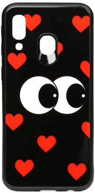 a40 cartoon case chehol eatit galaxy glass just nakladka print samsung toto