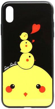 apple cartoon case chehol chick chicken glass iphone nakladka print toto xxs