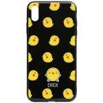 Чехол-накладка TOTO Cartoon Print Glass Case Apple iPhone X/Xs Chick