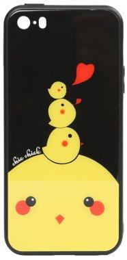 apple cartoon case chehol chick chicken glass iphone nakladka print se5s5 toto