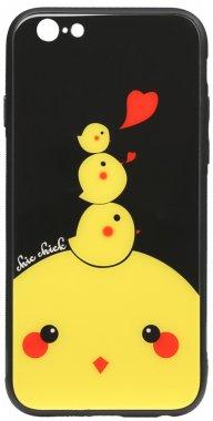 66s apple cartoon case chehol chick chicken glass iphone nakladka print toto