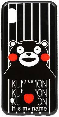 a10 cartoon case chehol galaxy glass kumamon nakladka print samsung toto