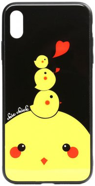 apple cartoon case chehol chick chicken glass iphone nakladka print toto xsmax