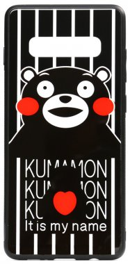 cartoon case chehol galaxy glass kumamon nakladka print s10 samsung toto