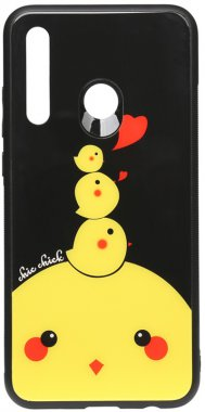 2019 cartoon case chehol chick chicken glass huawei nakladka p print smartplus toto