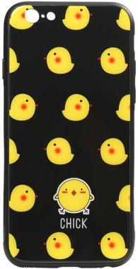 78 apple cartoon case chehol chick glass iphone nakladka print toto