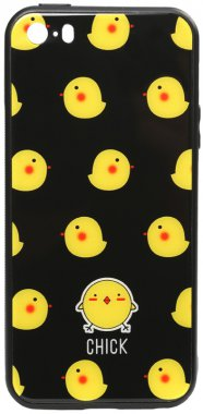 apple cartoon case chehol chick glass iphone nakladka print se5s5 toto