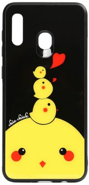 a20a30 cartoon case chehol chick chicken galaxy glass nakladka print samsung toto