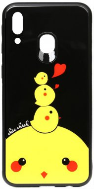 cartoon case chehol chick chicken galaxy glass m20 nakladka print samsung toto