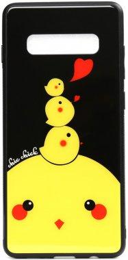 cartoon case chehol chick chicken galaxy glass nakladka print s10e samsung toto