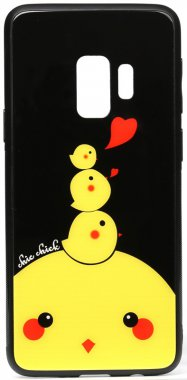 cartoon case chehol chick chicken galaxy glass nakladka print s9 samsung toto