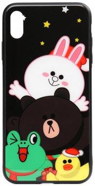 about apple cartoon case chehol friends glass iphone line nakladka print toto xxsall