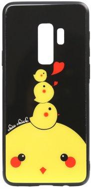 cartoon case chehol chick chicken galaxy glass nakladka print s9plus samsung toto