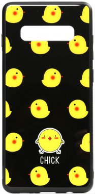 cartoon case chehol chick galaxy glass nakladka print s10 samsung toto